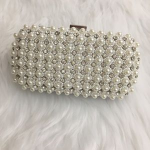 🆕 INC   Faux Pearl Evening Bag